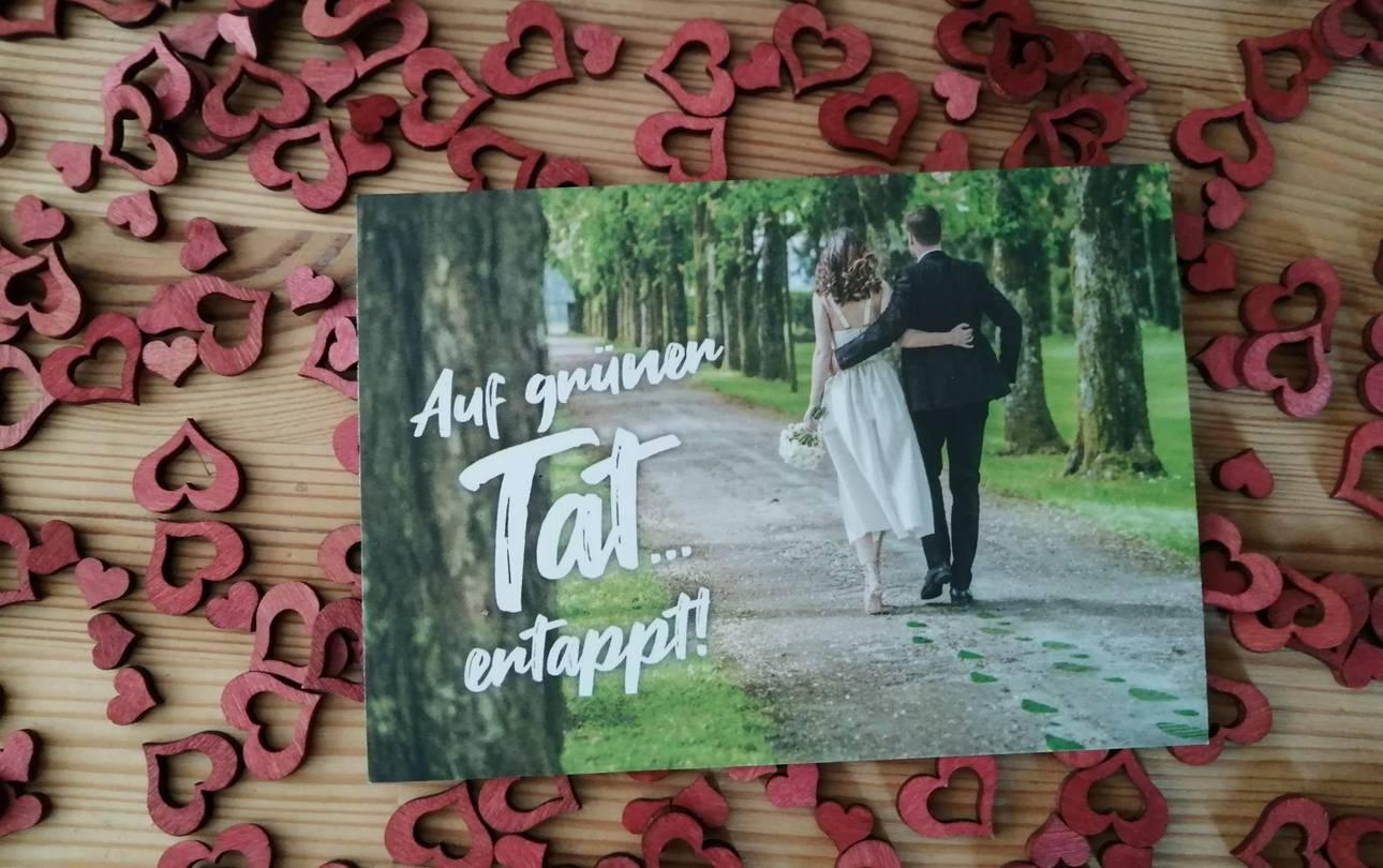 Postkarte mit Hochzeitspaar ©LTV