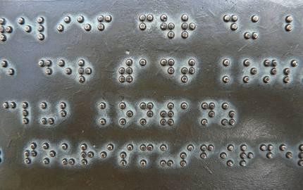 braille Schrift Hans pixabay ©Hans-Pixabay