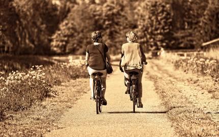 Fahrradfahrer auf Weg mabelamber pixabay ©mabelamber pixabay