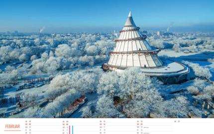 Kalendermotiv Jahrtausendturm Magdeburg