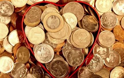Hartgeld in Blechdose