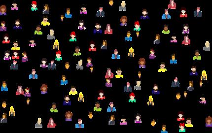 Vernetzung vieler Personen ©Pixabay