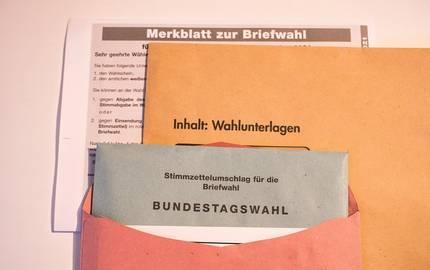 Stimmzettel Wahlunterlagen