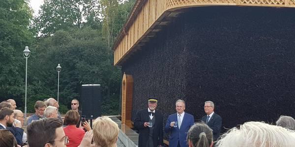 feierliche Eröffnung des Gradierwerks in Bad Schmiedeberg von Sachsen-Anhalts Ministerpräsident Reiner Haseloff und Kurchef Deddo Lehmann