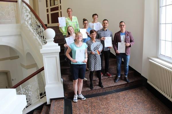 Teilnehmer des Q-Seminars mit Dozentin Kerstin Schulze